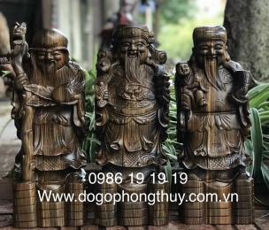 Tượng Tam Đa Gỗ Mun Hoa cao 60