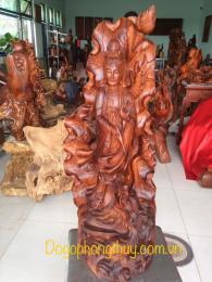 Tượng quan âm bồ tát gỗ hương gia lai ngyên khối