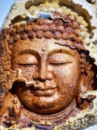 Tượng Diện Phật Gỗ Nu Hương