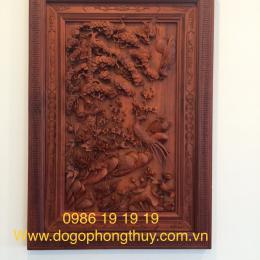 Đôi tượng Tam đa gỗ Ngọc am Hà Giang