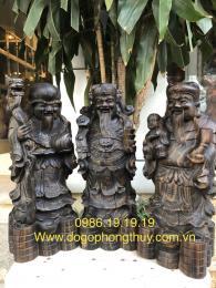 Tượng Tam đa gỗ mun hoa Lào