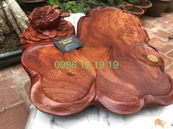 Khay trà thềm thử phong thủy gỗ hương Gia lai