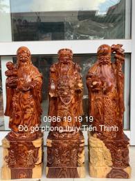 Tượng Tam đa gỗ Cẩm