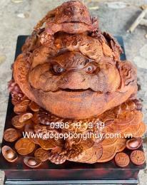 Tượng Thềm Thừ Gỗ Hương Krongpa Gia lai