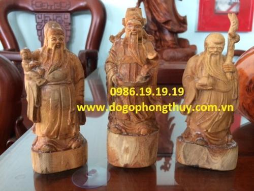 Tượng tam gỗ hoàng đàn cao 23cm rộng 6cm sâu 4cm