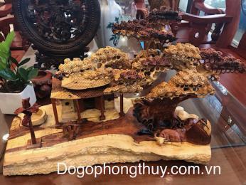 Cây đa giếng nươc sân đình  gỗ Câm Lai Đaklak