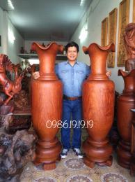 lộc bình gỗ hương Gia Lai Cao 1m70 đk 50cm