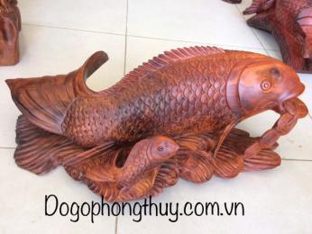 cá chep vượt vũ môn gỗ hương đaklak
