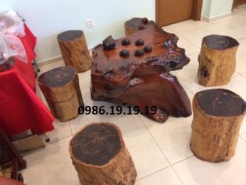 Bộ bàn ghế gốc cây,gốc cây, gỗ Hương nguyên khối