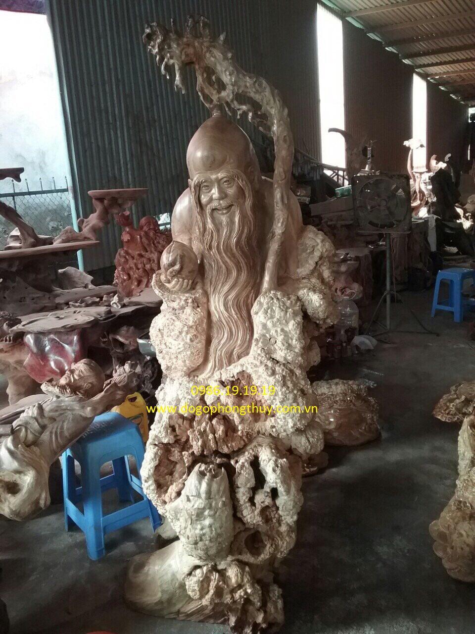 Tượng ông thọ gỗ Giáng Hương