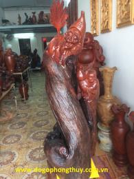 Tượng tê công gỗ hương
