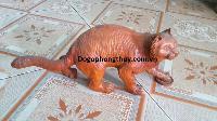 Tượng mèo phong thủy gỗ hương