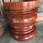 Đôn Tiện Trụ Tròn kê tượng, gỗ hượng Gia Lai nguyên khối