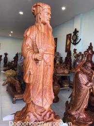 Tượng khổng minh Gia cát lượng, gỗ huong gia lai cao cấp