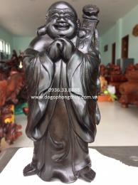 Tượng di lặc chúc phúc, gỗ mun sừng Nha Trang nguyên khối