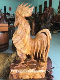 Gà Trống Trong Phong Thủy, gỗ hương Gia Lai nguyên khối