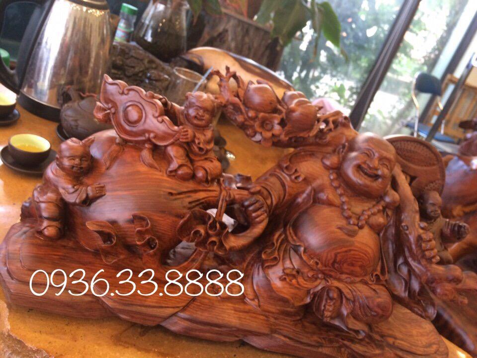 tượng di lăc tam phúc kéo bao tiền gỗ cẩm lai Đaklak