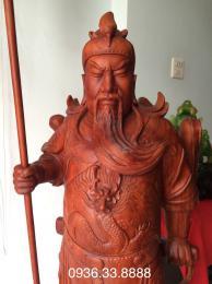 Tượng Quan Công Trân ải, cao 1m68 rộng 50cm sâu 40cm