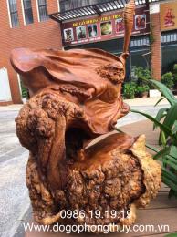 Tượng Đạt Ma Bay, gỗ Nu Hương Easup  Đaklak