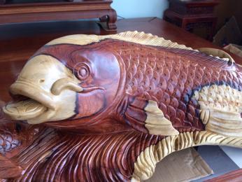 Cá Chép Vượt Vũ Môn, Gỗ Cẩm lai Đaklak nguyên khối
