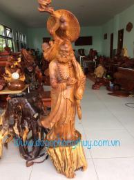 Tượng Sư Tổ đạt ma giáo hóa, gỗ hương Gia Lai nguyên khối