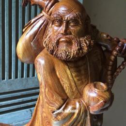 Tượng đạt ma giáo hóa, gỗ cẩm chỉ Đak lak nguyên khối