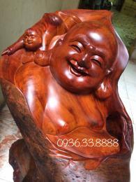 Tượng phật di lặc chúc phúc, gỗ hương Đaklak nguyên khối thuộc nhóm 1a
