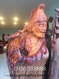 Tượng Tế Công hoạt phật gỗ hương lũa thiên nhiên
