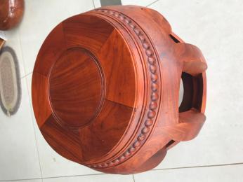 Đôn Trống gỗ hương gia lai cao 42cm rộng 30cm dầy 4cm