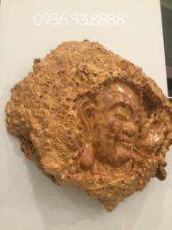 Tượng Mặt  Phật Tổ, gỗ Nu Nghiến Sơn La nguyên khối