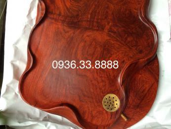 Khay trà phong thủy Cá Chép, gỗ hương Gia Lai