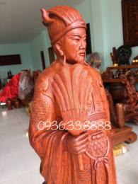 Tượng khổng minh, gỗ hương Gia Lai nguyên khối