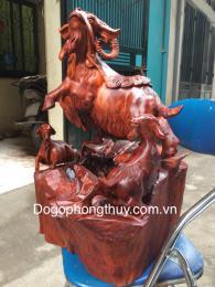 Tượng Tam Dương Khai Thái, gỗ Hương Gia lai nguyên khối