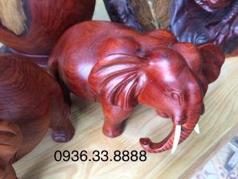 Tượng Voi Phong thủy, gỗ Hương krongpa gia lai nguyên khối