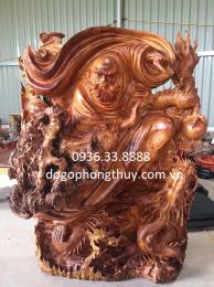 Tượng sư tổ đạt ma hàng long, gỗ nu hương cao 1m rộng 70cm sâu 30cm