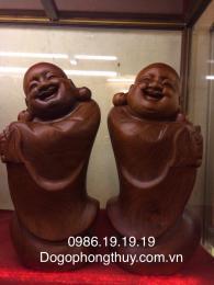 Tượng phật di lặc chúc phúc, gỗ hương Gia Lai nguyên khối