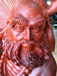 Tượng đạt ma sư tổ giáo hóa, gỗ hương Gia lai nguyên khối