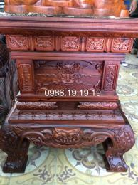 Đôn Kệ Tượng trạm hổ phù, gỗ hương Gia Lai