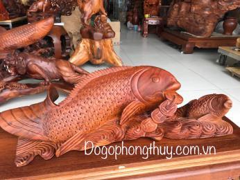 Cá Chép Vượt Vũ Môn nhả ngọc Gỗ Hương Đaklak