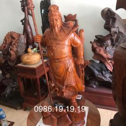 Tượng Quan Công , gỗ Hương  Kbang Gia lai nguyên khối
