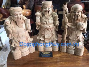 Tượng tam đa, gỗ xá xị Hà Giang nguyên khối