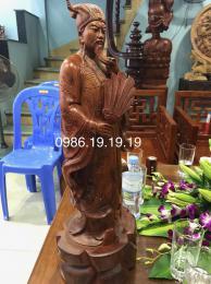 Tượng Khổng Minh, Gỗ Hương Kbang Gia Lai Nguyên khối