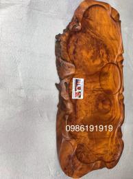 khay trà phong thủy, gỗ nu hương cao cấp nguyên khối