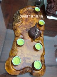 Khay Trà Phong Thủy, Gỗ Nu Giáng Hương  Đăklak Nguyên Khối