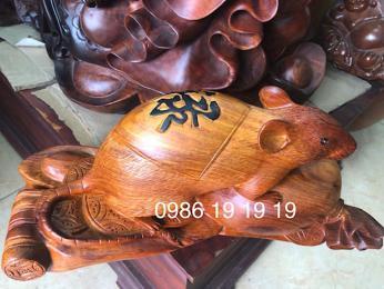 Tượng chuột gỗ hương krongpa Gia Lai nguyên khối