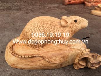 Tượng Chuột Gỗ Ngọc am Hoàng Su Phì Hà Giang