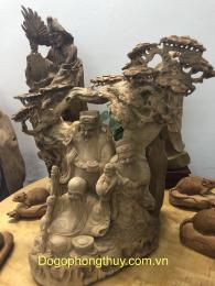Tượng Tam Đa - Phúc Lộc Thọ gỗ ngọc am hoàng Su Phì Hà Giang