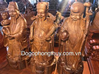 Tượng Tam Đa Gỗ Hương Gia Lai, Cao 70cm Rộng 30cm sâu 25cm