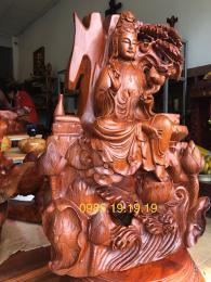 Tượng Quan Âm Tọa Sơn, Gỗ Hương krongpa Gia Lai