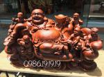 Tượng Phật Di lặc Ngũ Phúc Gỗ Hương EaSup Đaklak